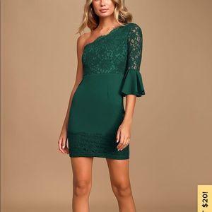 NWT Lulus emerald green dress XS